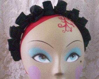 SALE Black Silk Flower Crown