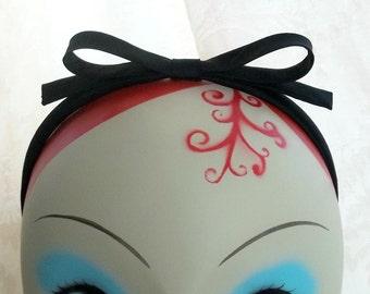 Black Silk Bow Headband