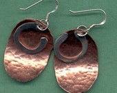 Silver Hoops on Copper