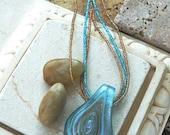 Turquoise Tear Drop Pendant Necklace