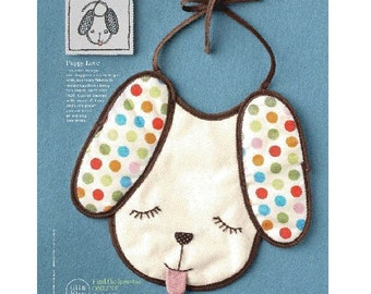 Good Housekeeping Magazine and Etsy Cuore Limited Edition Polka Dotted Puppy Baby Bib