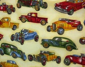 hot rods cotton fabric