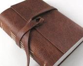 Writer's inspiration journal / sketchbook. Hemingway quote. handmade. brandy brown