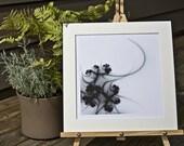 Black Thorn, Matted Fractal Print