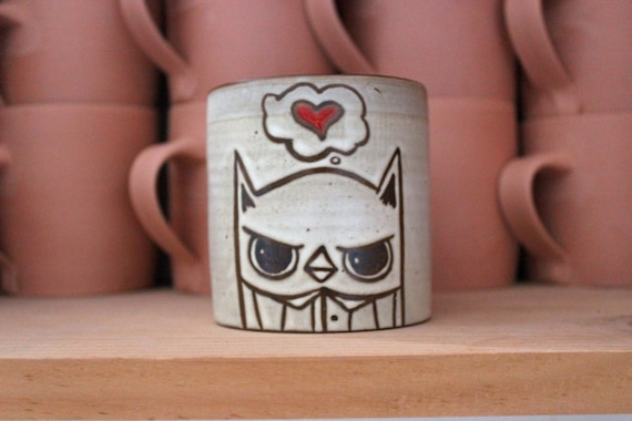 Owl mug w/heart