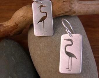 Heron Earrings - Sterling Silver