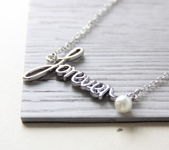 Items similar to Forever Necklace. Forever Word Necklace ...