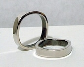 Modern Square Sterling Ring - Size 6