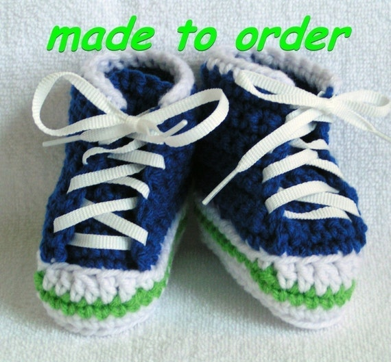 Baby High Top Sneaker  Booties - choose your color and size