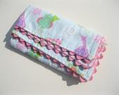 Birdy Mini Travel Blanket -  Baby Gift - Lovie Blanket - Flannel Baby Blanket - Cuddle Blanket
