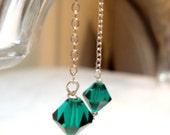 The Deirdre Earrings... emerald green swarovski crystal