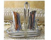 Graceful Silverplated Swan Salt and Pepper Set