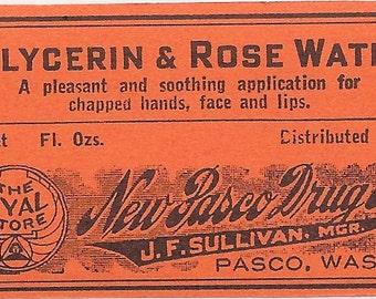 Ten Vintage Drugstore Medicine Bottle Labels