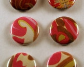 Abstract design one inch pinback button\/badge collection