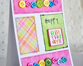 Happy Birthday - Handmade Greeting Card - LIQUIDATION SALE