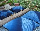 1 Authentic Japanese Indigo Floor Pillow - Soft Furniture. Last one.