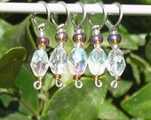 Raspberry Iced Tea stitch markers (set of 5)