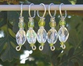 Iced Lime stitch markers (set of 5)