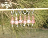 Clearance - Peach Spice stitch markers (set of 6)