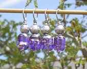 Iced Violets stitch markers (set of 4)