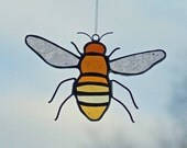 German Antique Glass Honey Bee - westernartglass