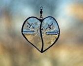 Transparent Glass Heart OOAK