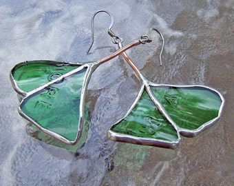 Italiana Birra Ginkgo Leaf Earrings mother's day bridesmaid gift under 35