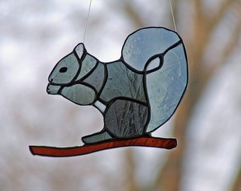Art Glass Squirrel, Nature Inspired Gift