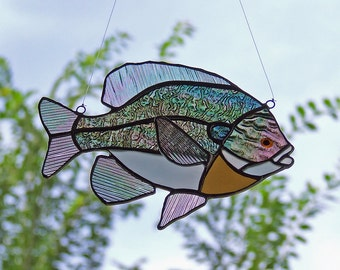 Stained Glass Bluegill Sunfish, Father's Day Gift, Man Cave Gift, Outdoor Nature Gift
