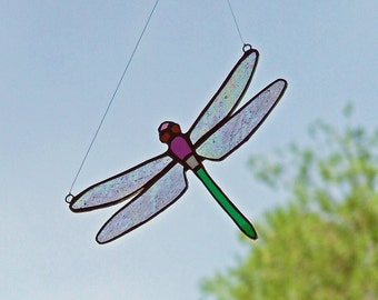 Unique Home Decor - Stained Glass Dragonfly - Unique Wedding Gift - Nature Inspired Gift