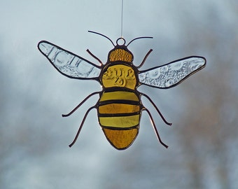 Reclaimed Glass Honeybee, Unique Wedding Gift