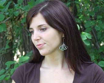 Eco Friendly Jewelry - Ginkgo Leaf Earrings from Italiana Birra - Mother's Day Gift - Everyday Earrings