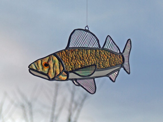 Stained Glass Walleye, Minnesota Freshwater Fish, Unique Gift Idea,