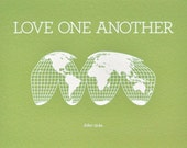 8x10 Love One Another Green