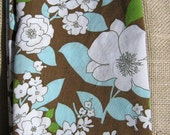 Everyday Napkins Brown and Turquoise Floral-Set of 4