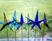 Two Stained glass star wands RESERVED for EightdozenRoses