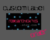 Custom Label Order for roxtarchicknits