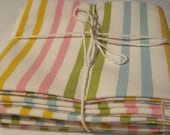 Vntage Reclaimed Linens Retro Striped Fat Quarter Fat Bundle