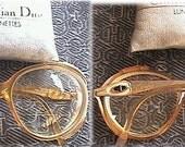 MOD Vintage 1960s 60s Designer Christian Dior Eye Wear Eyewear Vision Glasses Specs