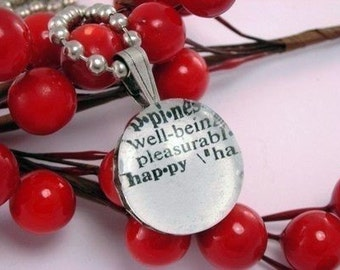 YOU CHOOSE WORD Custom Dictionary Definition Necklace with 16 Inch Ballchain