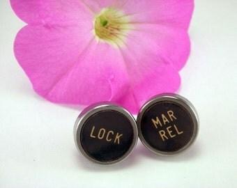 You Choose ANY TWO KEYS in stock Vintage Typewriter Key Post Earrings