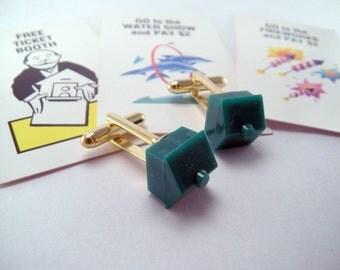 Monopoly Hotel Token Kitsch Cufflinks Cuff links DORK NERD GEEK