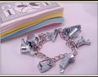 Monopoly Game Piece Token Charm 7 Inch Bracelet Kitsch Dork Nerd