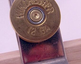 Annie Get Your Gun 12 Gauge Spent Shotgun Shell Casing Money Clip Brass or Silver