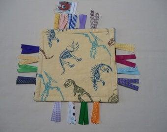 Sensory ribbon tag toy, ribbon tag travel lovey TB11, pocket size ribbon tag toy, Baby shower ribbon tag toy, pocket ribbon tag lovey RTS