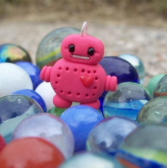 Pink Robot Pendant