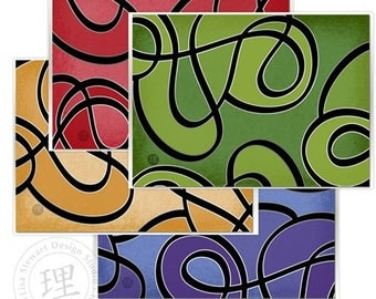 Contemporary Swirl Assorted NoteCards