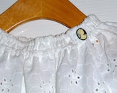 Peasant TOP - Eyelet Fabric - Pick the size Newborn up to 12 Years by Boutique Mia