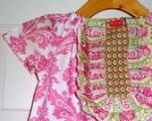 Tuxedo Mini DRESS - Tanya Whelan - Pink Damask - Pick the size Newborn up to 14 Years - by Boutique Mia