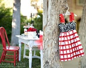 CHILDREN -Reversible PINAFORE - Michael Miller - Chairs - Pick the size Newborn up to 12 Years - by Boutique Mia
